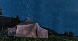 Zelten bei Sturm